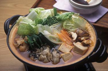 牡蠣のキムチ鍋