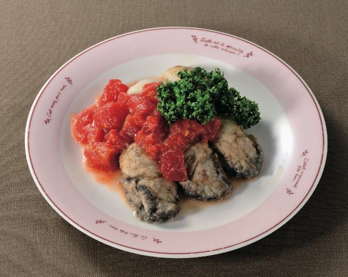 牡蠣のムニエル